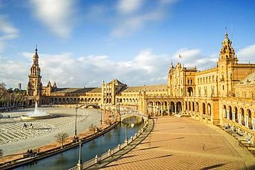 Spain Square or Plaza de Espana, Seville, Andalusia, Spain, Europe