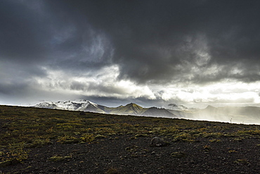 Mountain range in Skaftafell National Park, South Iceland, Iceland, Europe