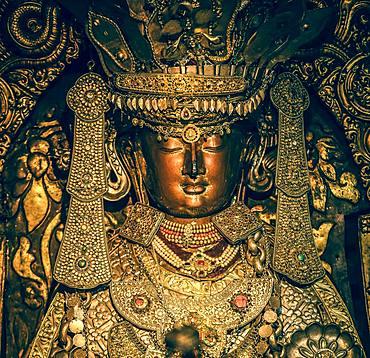 Buddha Statue, Golden Temple, Patan, Kathmandu Valley, Himalaya Region, Nepal, Asia