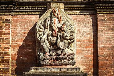 Hindu Deity, Ganesha, Temple, Durbar Square, Patan, Kathmandu Valley, Himalaya Region, Nepal, Asia