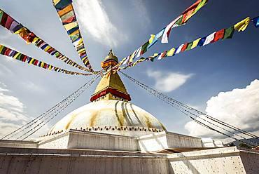 Boudhanath Stupa, Boudha, Kathmandu, Nepal, Asia