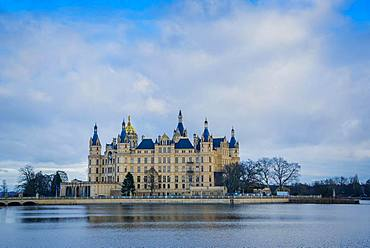 Schwerin Castle, State Parliament of Mecklenburg-Western Pomerania, Schwerin, Mecklenburg-Western Pomerania, Germany, Europe