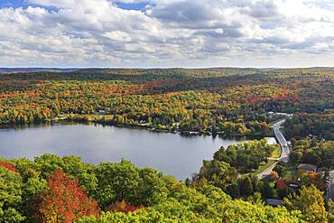 Autumn forest at Lake of Bays, Dorset, Ontario, Canada, North America