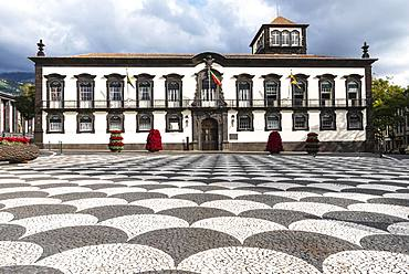 Rathau with town hall square, Funchal, Madeira Island, Portugal, Europe
