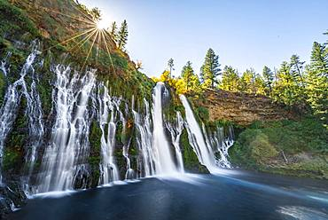 Waterfall, long-term image, McArthur-Burney Falls Memorial State Park, California, USA, North America