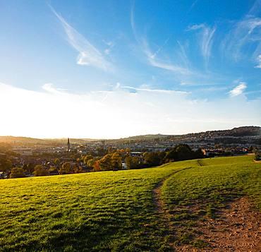 View of the city of Bath, Bath Skyline Walk, Bath, Somerset, England, Great Britain