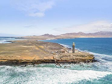 Lighthouse at Punta de Jandia, Fuerteventura, Canary Islands, Spain, Europe