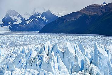 Glacier Tongue, Glaciar Perito Moreno Glacier, Glacier Break, Los Glaciares National Park, Andes, El Calafate, Santa Cruz, Patagonia, Argentina, South America