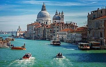 The Grand Canal with the Church of Santa Maria della Sute, Venice, Italy, Europe