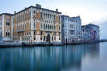 Historical house on the Canal Grande, Venice, Italy, Europe