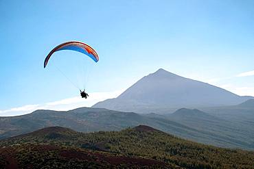 Paragliding, Teide National Park, Tenerife, Canary Islands, Spain, Europe