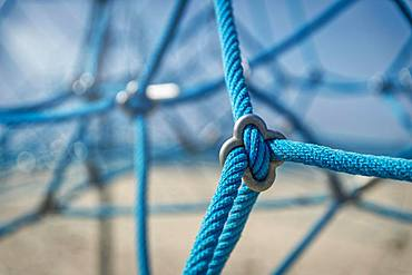 Close-up, playground, net, climbing ropes, Timmendorf, island Poel, Mecklenburg-Western Pomerania, Germany, Europe