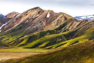 Coloured rhyolite mountains, Landmannalaugar, Fjallabak nature reserve, Sudurland, South Iceland, Iceland, Europe