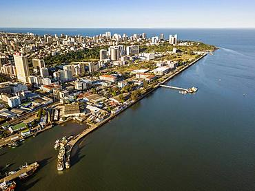 Aerial view, downtown of Maputo, Mozambique, Africa