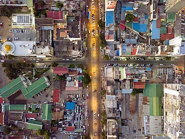 Aerial view, streets of Maputo, Mozambique, Africa