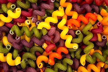 Cellentani, multi colored pasta, Canada, North America
