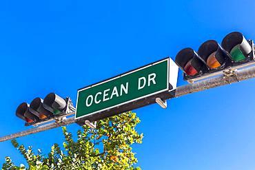 Shield Ocean Drive, Miami Beach, Miami-Dade County, Florida, USA, North America
