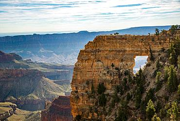 Rock formation Angels Window, Cape Royal, North Rim, Grand Canyon National Park, Arizona, USA, North America