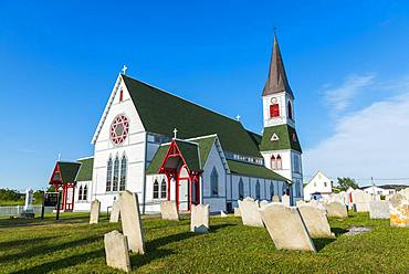 Church St. Paul's with cemetery, Trinity, Newfoundland and Labrador, Canada, North America