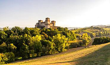 Castello di Torrechiara, Langhirano, Province of Parma, Emilia-Romagna, Italy, Europe