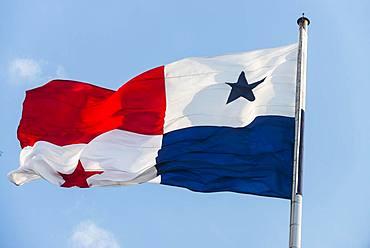 The flag of Panama, Panama City, Panama, Central America