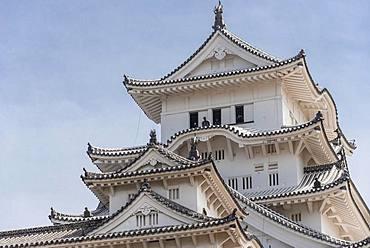 Himeji Castle, Himeji-jo, Shirasagijo or White Heron Castle, Himeji, Prefecture Hyogo, Japan, Asia
