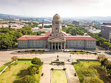 Aerial view of Tshwane city hall, Pretoria, South Africa, Africa