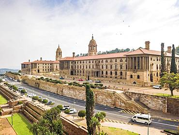 Aerial view of Union Buildings, house of Government and President, Pretoria, South Africa, Africa