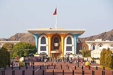 Sultan's palace Al Alam, government quarter, Muscat, Oman, Asia