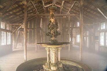 Well in the breathing centre of the graduation house, Bad Salzungen, Thuringia, Germany, Europe