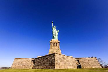 Statue of Liberty, Statue of Liberty National Monument, Liberty Island, New York City, New York, USA, North America