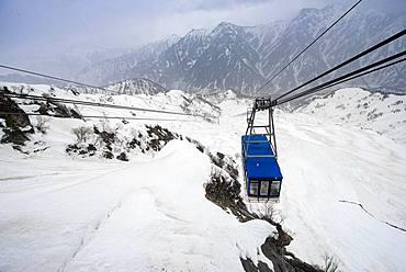 Tateyama Ropeway, cable car, Tateyama Kurobe Alpine Route, Tateyama, Japan, Asia