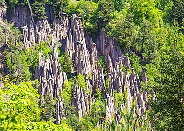 Ritten fairy chimneys, Ritten, South Tyrol