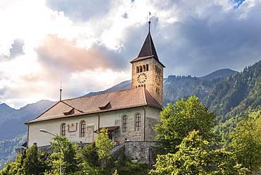 Church, Brienz, Bernese Oberland, Canton Bern, Switzerland, Europe