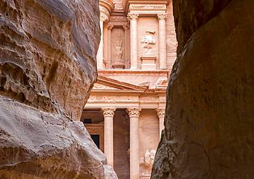 The Treasury, Al-Khazneh, Petra, Jordan, Asia