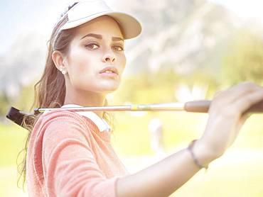 Golfer, young woman, Tyrol, Austria, Europe