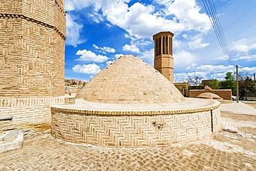 Wind tower and water reservoir, Na'in, Isfahan Province, Iran, Asia