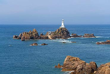 La Corbiere lighthouse, Jersey, Channel Islands, United kingdom, Europe