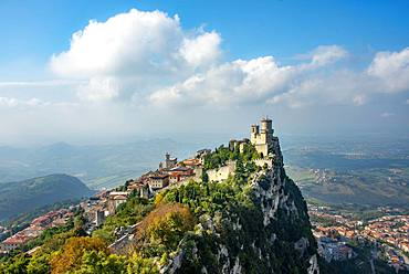 Torre Guaita or Rocca Guaita, old watch tower, Monte Titano, San Marino Town, San Marino, Europe
