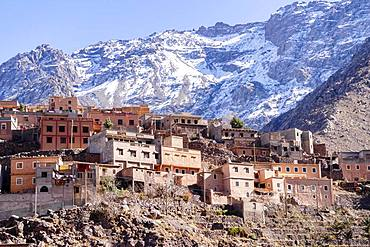 Berber village in Atlas mountains, Aroumd, Morocco, Africa