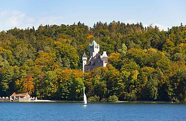 Seeburg Castle near Allmannshausen, Lake Starnberg, Five Lakes Region Upper Bavaria, Bavaria, Germany, Europe