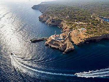 Faro de Cala Figuerat, Majorca, Balearic Islands, Spain, Europe