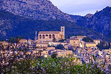 Selva in the morning light, Raiguer region, Serra de Tramuntana, Majorca, Balearic Islands, Spain, Europe
