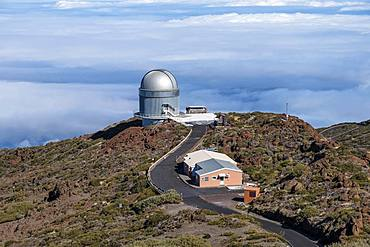 Observatory, Observatory on the Roque de los Muchachos, Gran Telescopio Canarias, La Palma, Canary Islands, Canary Islands, Spain, Europe