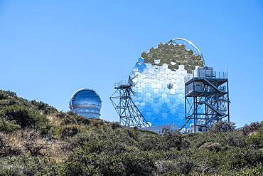 Reflecting telescope, astronomical observatory on the Roque de los Muchachos, La Palma, Canary Islands, Spain, Europe