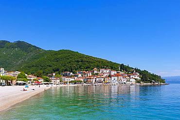 Beach, Moscenicka Draga, Istria, Kvarner Gulf Bay, Croatian Adriatic Sea, Croatia, Europe