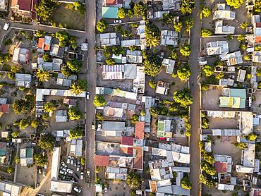 Aerial view of residential part of Maputo, Zimpeto, capital city of Mozambique, Mozambique, Africa
