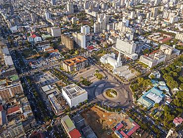 Aerial view of Independance Square in Maputo, capital city of Mozambique, Mozambique, Africa
