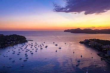 Aerial view over Costa de la Calma and Santa Ponca, Costa de la Calma, region Caliva, Majorca, Balearic Islands, Spain, Europe
