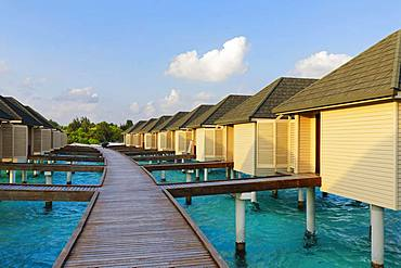 Water bungalows, Summer Island, North Male Atoll, Maldives, Asia